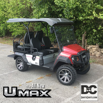 2020 UMAX Rally 2+2 48 volt Ac Motor shown with Custom Wheels