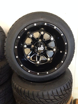 "12"" HD3 Black Wheels"