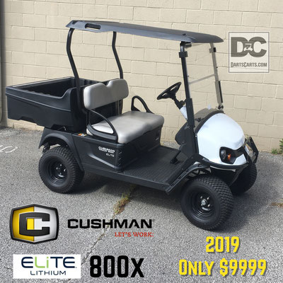 2019 CUSHMAN 800X LITHIUM  WITH ALMOST $4000 IN OPTIONS!! PRICED TO SELL  W/ FULL WARRANTY