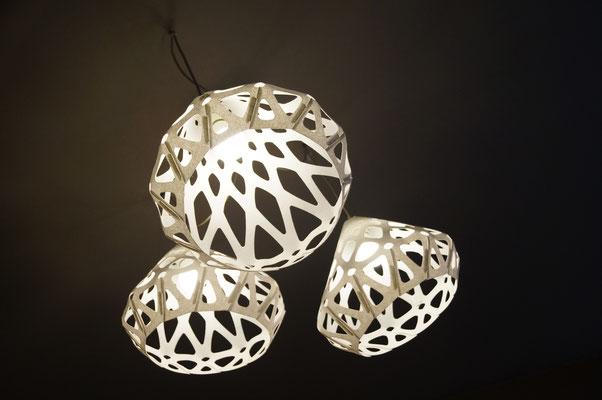 Beutifull glow of ZAHA LIGHT chandelier