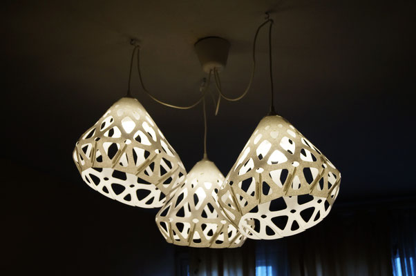 Avant-garde design of white chandelier