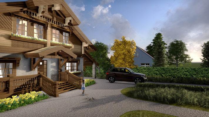Визуализация частного дома.