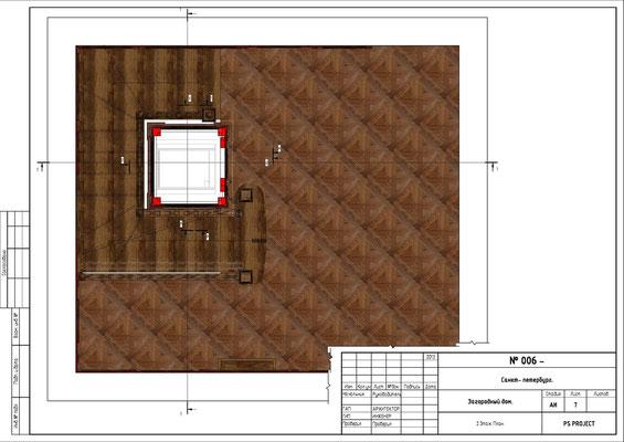 План 3 этажа. ОФОРМЛЕНИЕ ЛИФТОВОЙ ШАХТЫ.
