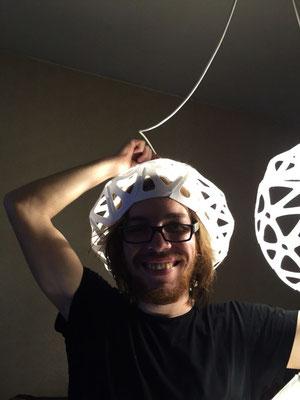 Designer with plafond hat