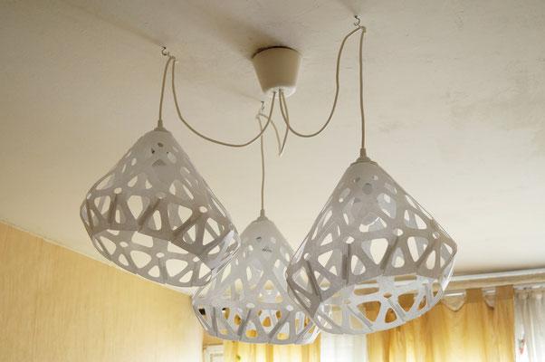 Beautifull bionic form of chandelier