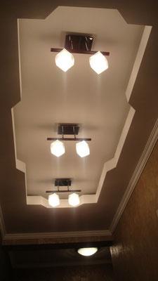 Потолок с закарнизной подсветкой.Вид 3. ИНТЕРЬЕР ТРЕХКОМНАТНОЙ КВАРТИРЫ