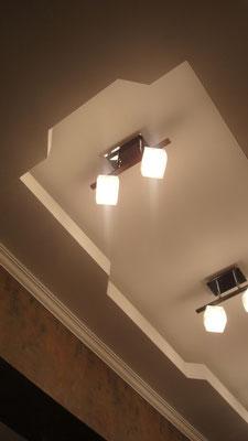Потолок с закарнизной подсветкой.Вид 4. ИНТЕРЬЕР ТРЕХКОМНАТНОЙ КВАРТИРЫ