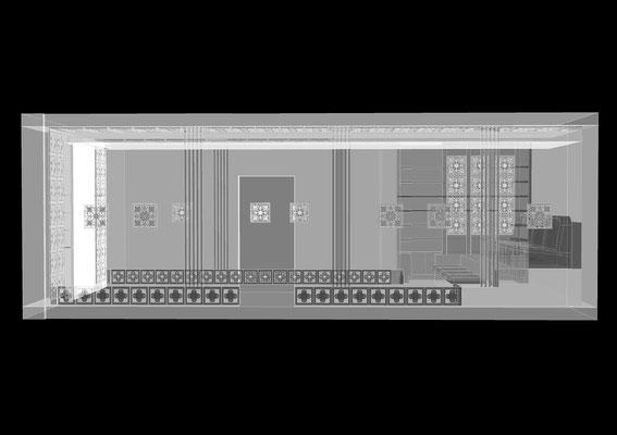 АКСОНОМЕТРИЯ КИНОЗАЛА. Кинозал в частном доме. Дизайн проект.