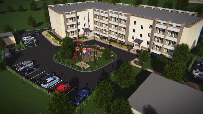 визуализация 3 этажный дом