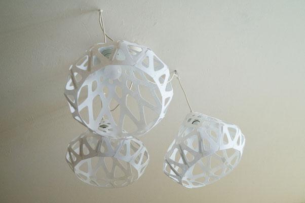 Bottom view of ZAHA LIGHT chandelier