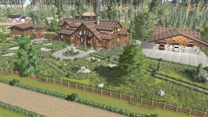 Эскизы к проекту частного дома