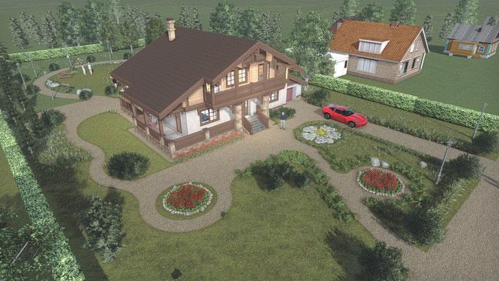 Проекты домов. Визуализация