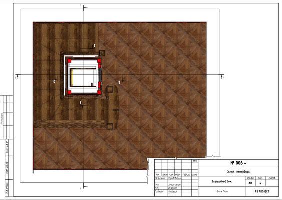 План 2 этажа. ОФОРМЛЕНИЕ ЛИФТОВОЙ ШАХТЫ.