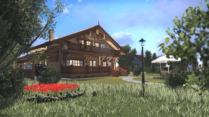 Красочные эскизы домов для выигрышной презентации задумки.