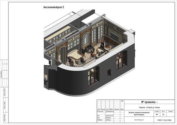 АКСОНОМЕТРИЯ ШОУРУМА 1. Дизайн проект офиса- шоурума.