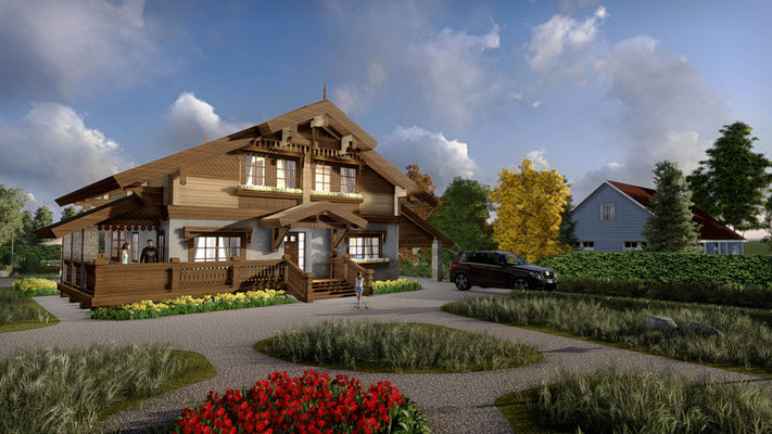 Жилой дом эскизы архитектора.