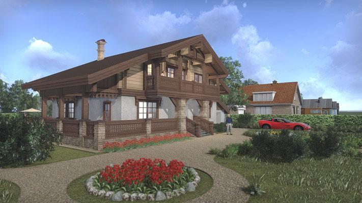 Эскизное предложение проекта дома