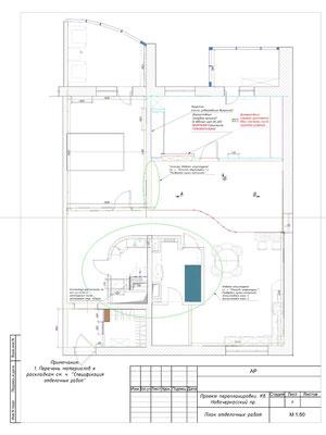 5. План отделочных работ. Проект дизайна интерьера КВАРТИРЫ в СПБ.