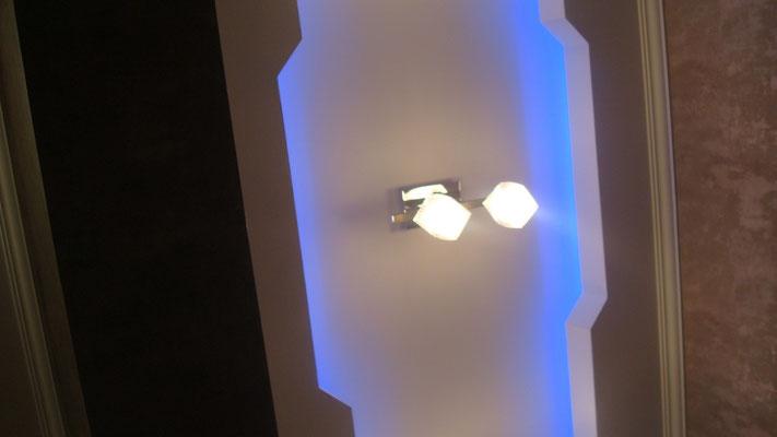 Потолок с закарнизной подсветкой.Вид 8. ИНТЕРЬЕР ТРЕХКОМНАТНОЙ КВАРТИРЫ