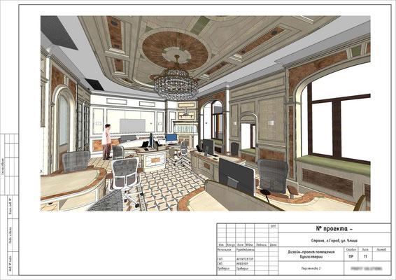 ПЕРСПЕКТИВА ШОУРУМА 2. Дизайн проект офиса- шоурума.