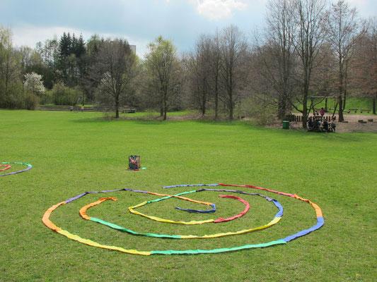 Kempten (Engelhaldepark - Gelegtes Labyrinth)