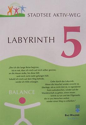 Bad Waldsee - Informationstafel beim Labyrinth