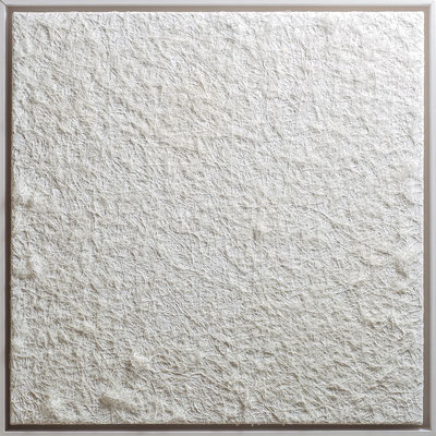 Katharina Lehmann / Ohne Titel / Thread-Drip Painting - Acryl, 1.000 Meter Faden auf Leinwand / 60x60 cm / 2014 / Photo © Andrey Nikolaev.