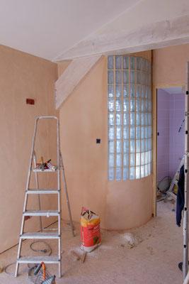 mur de briques de verre chambre les inséparables