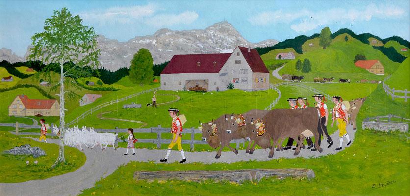 25 x 51 cm, Gouache auf Papier, 2000