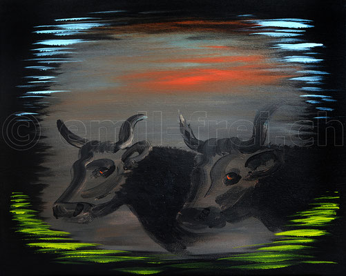 40 x 50 cm, Acryl auf Leinwand, 2017