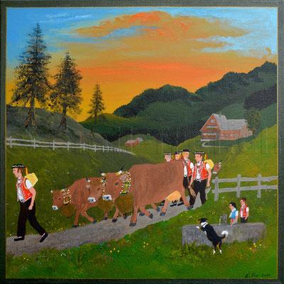 40 x 40 cm, Acryl auf Leinwand, 2011