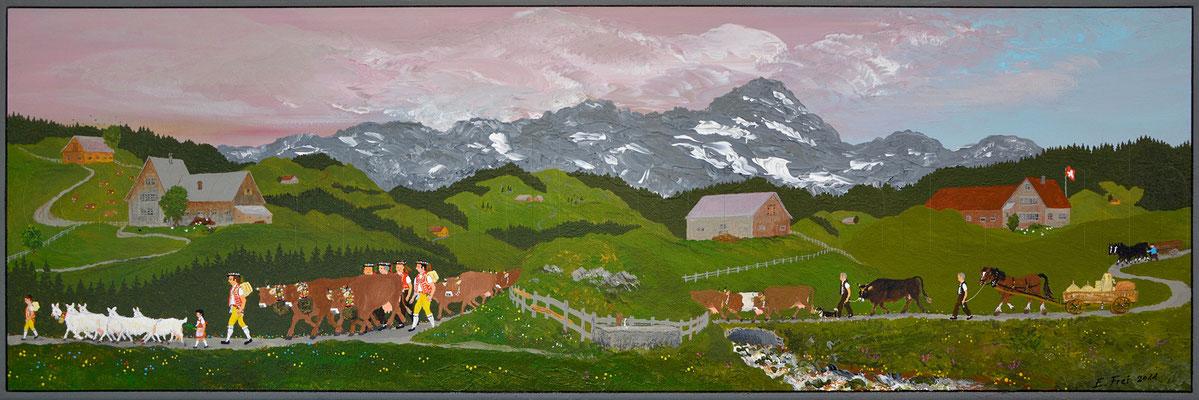 30 x 90 cm, Acryl auf Leinwand, 2011