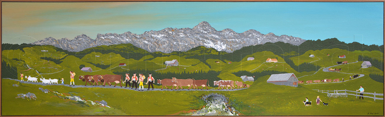 40 x 130 cm, Acryl auf Leinwand, 2017