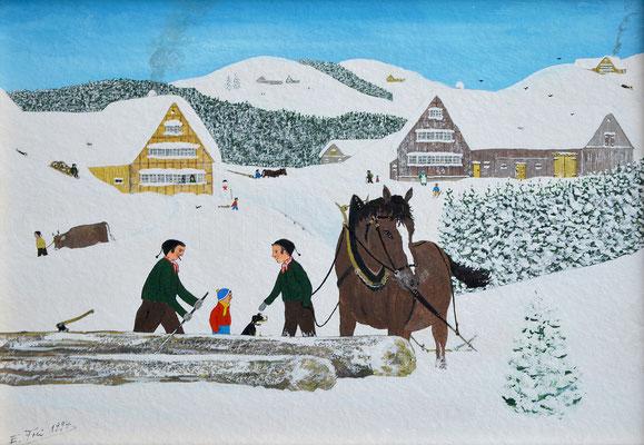 23 x 33 cm, Gouache auf Papier, 1994