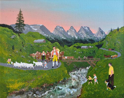 40 x 50 cm, Acryl auf Leinwand, 2014