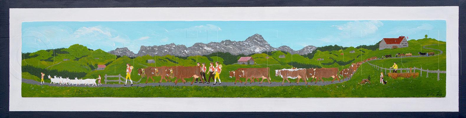 27 x 107 cm, Acryl auf Holz, 2012