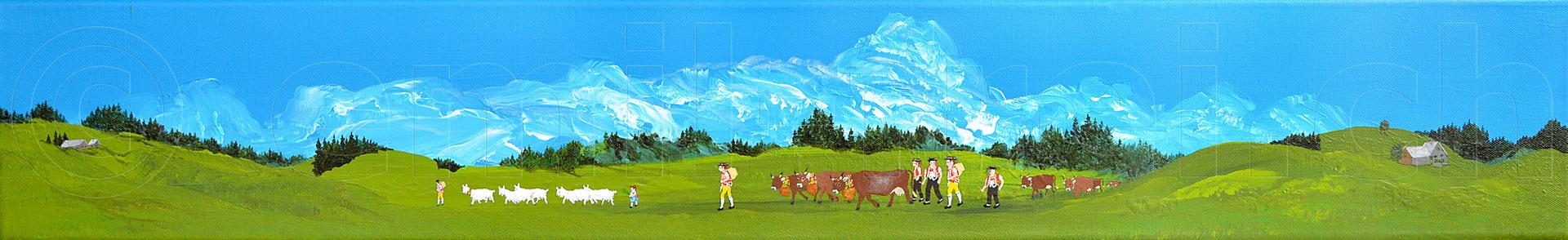 15 x 100 cm, Acryl auf Leinwand, 2016
