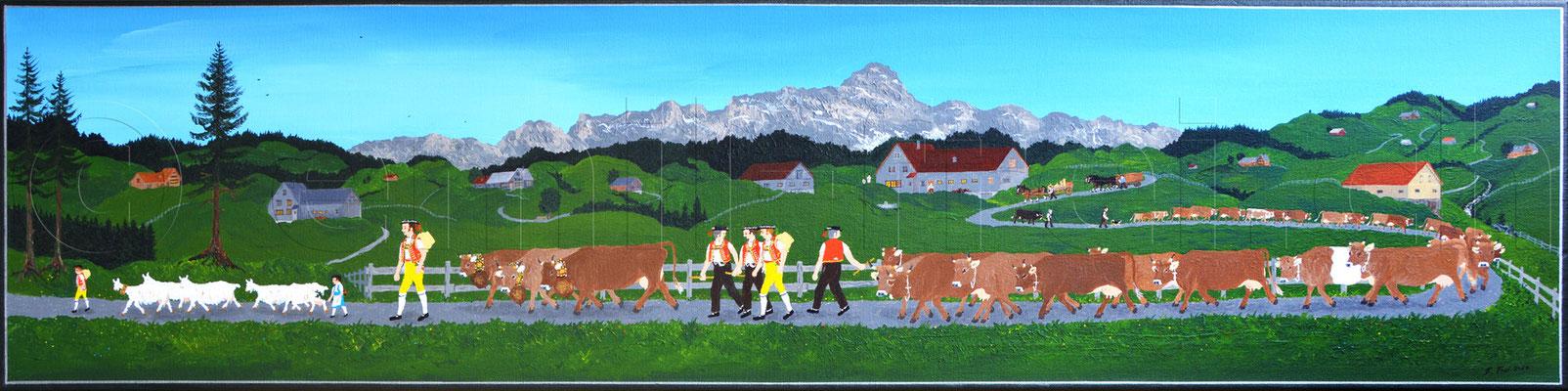 30 x 120 cm, Acryl auf Leinwand, 2014