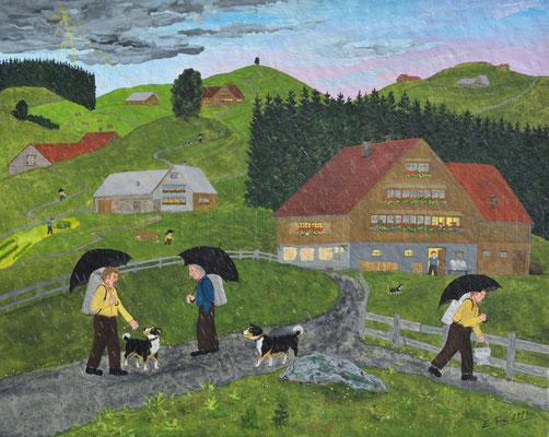 24 x 30 cm, Gouache auf Papier, 1994