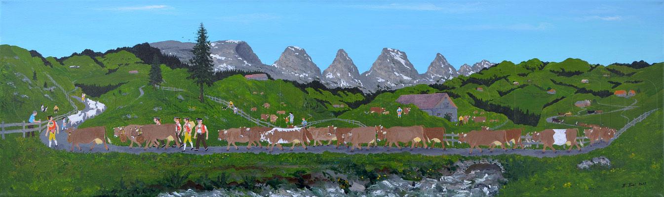 30 x 100 cm, Acryl auf Leinwand, 2013