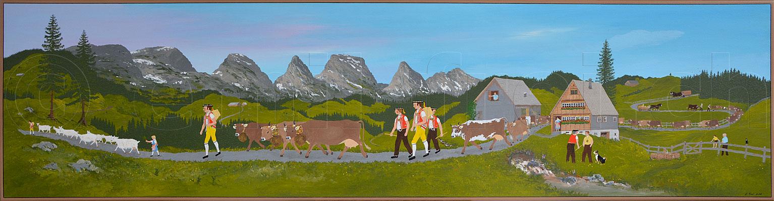 50 x 195 cm, Acryl auf Leinwand, 2016