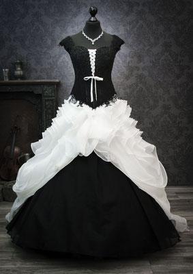 Schwarz-weiße Brautkleider