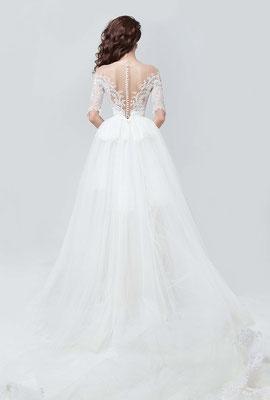 Rückenfreie Brautmode