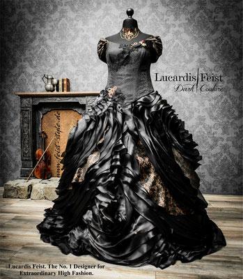 steampunk hochzeit-schwarzes brautkleid