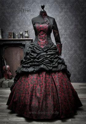 Ausgefallene Brautkleider in schwarz