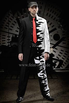Showoutfit, Anzug Musiker, extravagant Heiraten