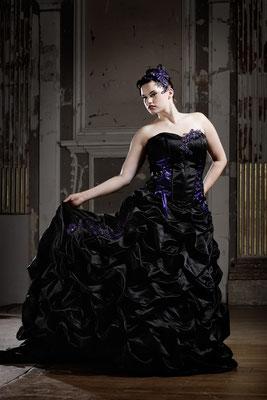 Schwarzes Brautkleid Big Size