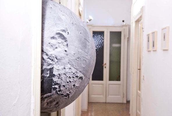 moon, 2016, collage on PVC, ø 130 cm