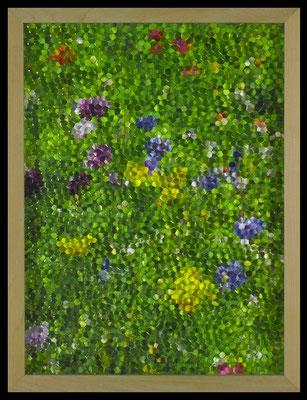 mosaic, (yellow, green and blue,) 2016, digital printing, printed honeycomb glass, 40x30 cm