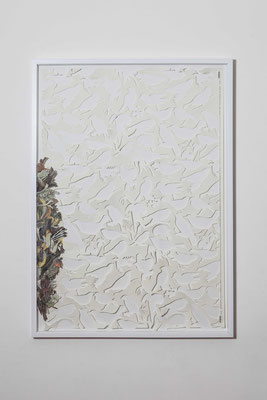 birds, 2015, cut-outs on paper, collage cm 100x70
